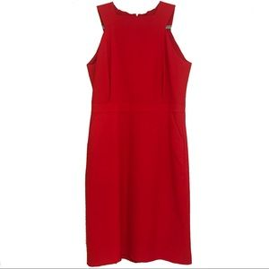 J Crew Red Sheath Dress
